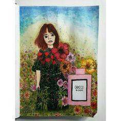 Hari Nef💙💙💙 Hope you like it credits- ig| @neja_art_crafts #harinef#hari#harinefart#art#drawing#drawings#flowers#bloom#gucci#guccibloom#fanart#garden Neliaaaa