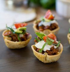 Mini Taco Cups- a fun and festive finger food!