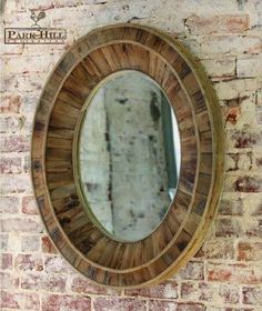 We love how reclaimed wood, with all its time worn character, brings simple beauty with minimal resources. Each radiating layer of wood, infuses this oval #mirror with vintage style and charm.