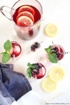 Blackberry-Lemonade Iced Tea + GIVEAWAY - Celebrations at Home