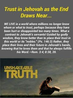 Always put your trust in Jehovah