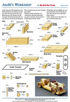 Wooden toys and plans from all over the World Toymaker * Model builder * Art +Craft Market's * Making Toys * News and Updates Wooden Truck, Wooden Car, Toy Trucks, Fire Trucks, Rude Pics, Woodworking Plans, Woodworking Projects, How To Make Toys, Intarsia Woodworking