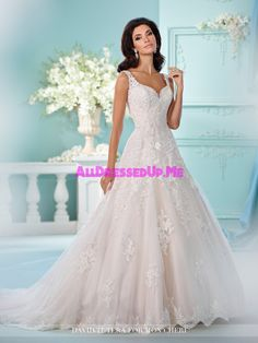 Luxury A Line Wedding Dresses 2017 Lace Appliques See Through Plus Size Bridal Party Gowns Robe De Mariage Wedding Gown A Line, Sweetheart Wedding Dress, Wedding Gowns, Lace Wedding, David Tutera Wedding Dress, Mermaid Wedding, Drop Waist Wedding Dress, Wedding Mandap, Wedding Stage