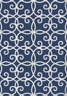 Kendall #wallpaper in #navy from the Geometric Resource 2 collection. #Thibaut