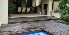 A natural swimming pool completely eliminates the need for chemicals and constant cleaning. We are installers of Natural Swimming Pools Natural Swimming Pools, Cool Deck, Wooden Decks, Decking, Landscapes, Outdoor, Natural Pools, Paisajes, Outdoors