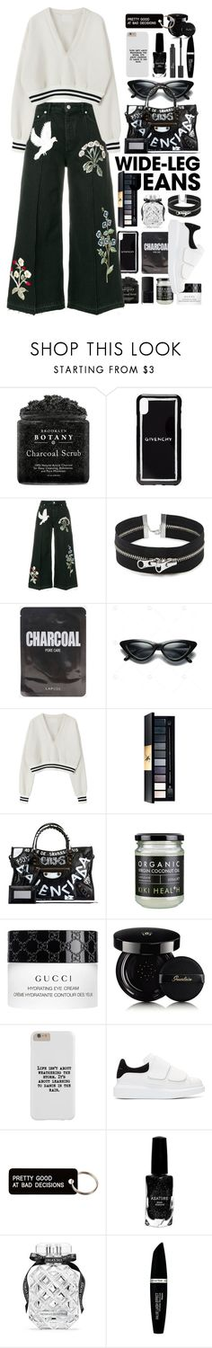 """""""dreams and nightmares"""" by lxxyxj ❤ liked on Polyvore featuring Givenchy, Alexander McQueen, Forever 21, John Lewis, Balenciaga, Gucci, Guerlain, Various Projects, Azature and Christian Dior"""