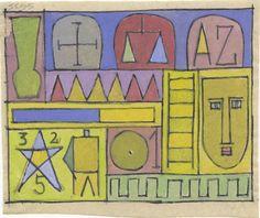 Sergio de Castro, 45.67, Símbolos, 1945. Tinta china y gouache sobre papel.   Fuente: www.sergiodecastro.org