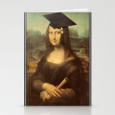 Mona Lisa Graduate Greeting Card  by #Gravityx9 #Spoofingthearts #Just4grad -
