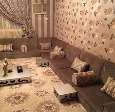 Living Room Tv, Home And Living, House Ceiling Design, House Design, Home Beauty Salon, Moroccan Room, Paint Colors For Living Room, Home Decor Furniture, Sofa Design