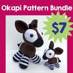 okapi crochet pattern bundle pdf instant by milesofcrochet on etsy