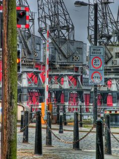 Cranes, Bristol Docks   Flickr - Photo Sharing! Bristol Harbourside, Bristol England, Heavy Equipment, Family Photos, The Neighbourhood, Shed, Bath, Urban, Explore