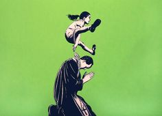Leap by Dolk. Limited Edition Print from Hang-Up Gallery, London. Europe's leading gallery for Urban and Contemporary art. Graffiti Murals, Street Art Graffiti, Urban Street Art, Urban Art, Lofoten, Banksy, Stencils, Cultura Pop, Outdoor Art
