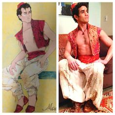 my kingdom is great (Aladdin& costume, designed by Gregg Barnes . Aladdin Costume, Theatre Costumes, Greggs, Fantasy Artwork, Costume Design, Musicals, Saree, Theater, Fashion