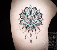 Mandala flower tattoo by Chris Rigoni