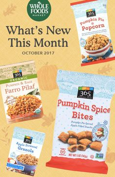 Each month our buyers introduce new products to our stores, and each month we fall for new favorites. From fast and easy meal solutions to seasonal superstars (hello, pumpkin spice snacks), here are 13 newcomers to look for this month. Bonus: They all meet our quality standards, which means no artificial colors, flavors, preservatives or sweeteners, and no hydrogenated fats or high fructose corn syrup either. Pick up your Pumpkin Spice Bites & Pumpkin Pie Popcorn while supplies last!