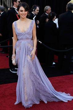 Mila Kunis Oscars Red Carpet 2011