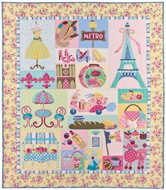 Cute Paris quilt