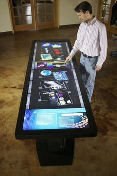 100-Inch Touchscreen Desk For The Office ~ Pin Geeks