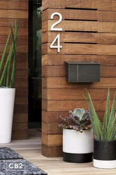 Put the letter to the metal. Industrial wall-mounted mailbox shows the mark of a metalsmith, handcrafted of powdercoated iron that's cut, molded, welded, buffed and plated by hand with exposed weldings. Contemporary House, Industrial Wall, House Design, Modern Patio Furniture, Wall, Slat Wall, Home Remodeling, Mounted Mailbox, House Exterior