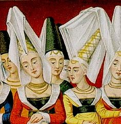 14th Century costume for women  the hennin was an extremely tall 4da0d846d70