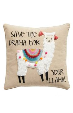 Main Image - Levtex Save the Drama For Your Llama Pillow