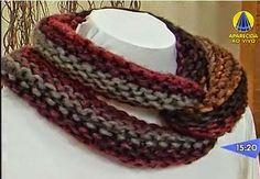 Receita de Tricô: Gola cruzada Quebec em tricô Knitting Paterns, Knitting Designs, Beaded Collar, Quebec, Loom, Macrame, Humor, Cable Knit Scarves, Craft Ideas