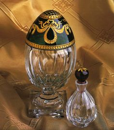 Faberge Eggs: Karsavina Crystal Egg with Perfume Bottle