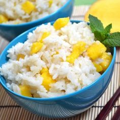 Mango coconut jasmine rice is a subtly sweet and creamy dessert. Jasmine Rice Recipes, Coconut Rice, Mango Sticky Rice, Cooking Recipes, Healthy Recipes, Healthy Foods, Easy Recipes, Uk Recipes, Vegetarian Recipes