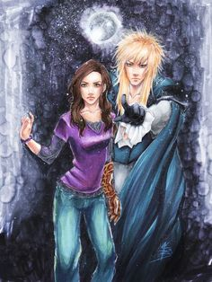 Labyrinth fan art - Sarah looking interestingly more self-posessed here