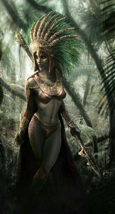 26 Stunning Digital Fantasy Art works for your inspiration - 11 beautiful digital painting Dark Fantasy Art, Fantasy Girl, Fantasy Female Warrior, Fantasy Art Women, Fantasy Kunst, Fantasy Artwork, Female Art, Aztec Warrior, Warrior Girl