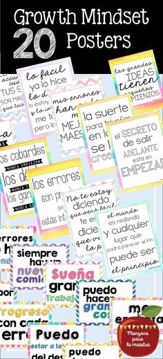 These growth mindset posters are the perfect decor for many classrooms - bilingual ed, Spanish classes, etc. The Spanish used is at varying levels making this great for the teacher who has many different ages and abilities in their classroom. Spanish Teaching Resources, Spanish Activities, Spanish Lessons, New Classroom, Spanish Classroom, Classroom Decor, Spanish Grammar, Spanish Teacher, Google Translate