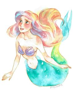 Disney colorful Ariel