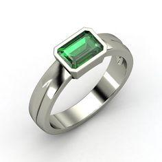 Emerald-Cut Emerald Platinum Ring | Jada Ring | Gemvara