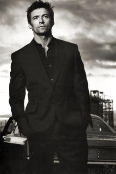 Hugh Jackman  B  W #handsome #men