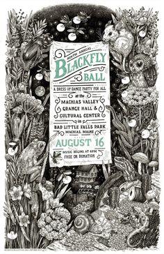 2014 Blackfly Ball Letterpress Poster - Large