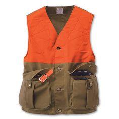 Shelter Cloth Upland Hunting Vest with Blaze Orange