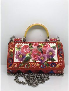 2bf8d8c43e Sicily leather crossbody bag Dolce   Gabbana handbag floral print purse
