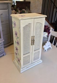 Musical Jewelry Armoire Shabby Chic Painted Jewelry Box
