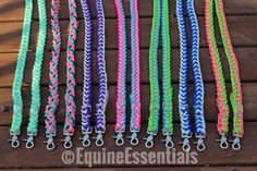 Custom 8ft 9-Strand Adjustable Braided Riding Reins Western Horse Tack, Paracord, Braids, Horse Stuff, Trending Outfits, Unique Jewelry, Handmade Gifts, Pattern, Essentials
