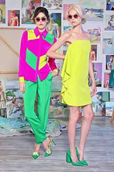Christian Siriano also shared his Resort 2015 collection, which favors plenty of festive neon colors.