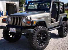"""Jeep Wrangler 2003 Great Condition!!! in Wirth's Garage Sale in Newton , IL for $16,000. Hey Jeep Fans !!!!! Don't miss out on this great condition, well kept Jeep Wrangler. Come check it out if your interested. If you have any questions feel free to contact me. Don't let this GREAT deal pass by!!!!!    Jeep Wrangler 2003  - In-line 6  - 81,000 miles  - 2 door  - Hard top included  - 35 150 20 inch rims  - Pit bull tires """"low miles on ..."""