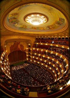 Teatro Colón, Buenos Aires, Argentina - acoustically one of the top five theatres in the world for concerts Historical Architecture, Amazing Architecture, Architecture Design, Argentine Buenos Aires, Beautiful World, Beautiful Places, Places To Travel, Places To Go, Theater
