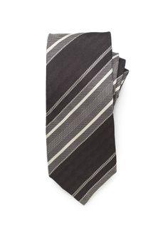 Wide Stripe Tie - Black (http://noeliasanchez.jhilburn.com/products/wide_stripe_tie/black) $89