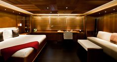 S/Y Melek: 56m Perini Navi - owner's cabin - this will do nicely!