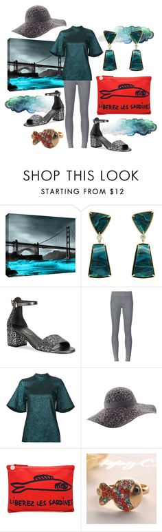 """Free Sardines!"" by pampire ❤ liked on Polyvore featuring ArtWall, Valentin Magro, Free People, ATM by Anthony Thomas Melillo, E L L E R Y, Helen Kaminski, Clare V. and Fit-to-Kill"