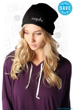 Alpha Epsilon Phi Slouchy Beanie available until 12/3 #AlphaEpsilonPhi #AEPhi #beanie #sorority #GroupBuy #TSL #TheSocialLife