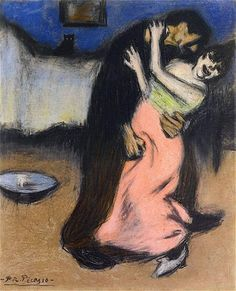 Pablo Picasso - Forced Embrace, 1901