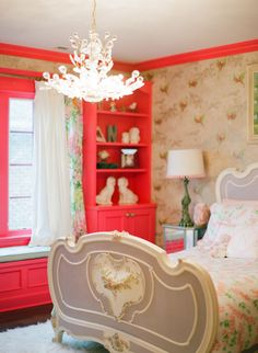 Baby Girl Room Ideas - Reorganizing a bedroom into a girl nursery needs more efforts. Parents should decide the best baby girl room ideas. Baby Boy Rooms, Little Girl Rooms, Kids Rooms, Toddler Rooms, Home Bedroom, Girls Bedroom, Coral Bedroom, Bedroom Ideas, Childrens Room