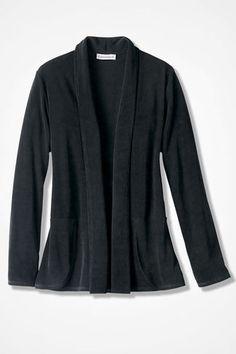 Destinations Shaped Cardigan Jacket, Black