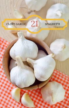 Rachael Ray came up with some inventive ways to pump your next pasta dinner even more full of garlic than usual. Try her 21-Clove Garlic Spaghetti Recipe. http://www.recapo.com/rachael-ray-show/rachael-ray-recipes/rachael-ray-21-clove-garlic-spaghetti-recipe-garlic-chips/